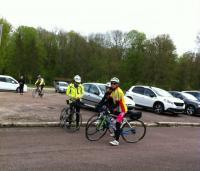les cyclotouristes se préparent