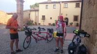Préparation avant départ à Gambassi Terme (Toscane)